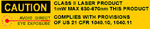 Caution: Class II Laser Product