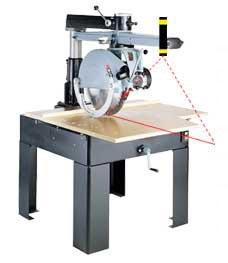Pico Laser on radial arm saw